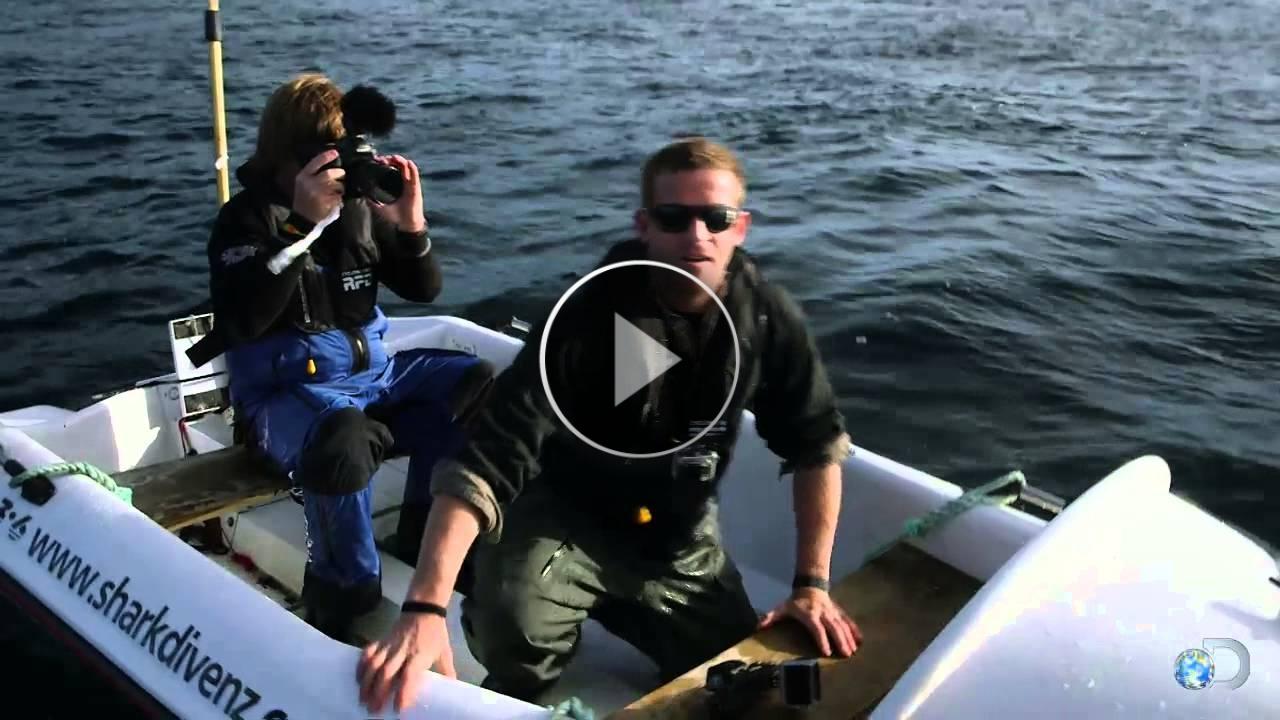 Girano un documentario... e vengono attaccati da uno squalo bianco!! Incredibile!!