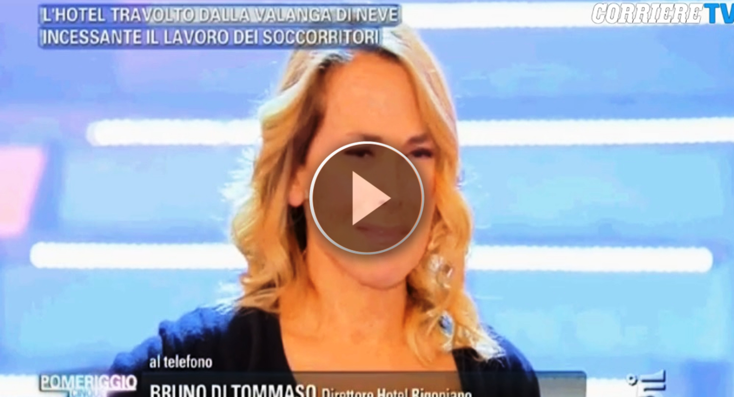 Tragedia di Rigopiano, Barbara D'Urso scoppia a piangere in tv - VIDEO