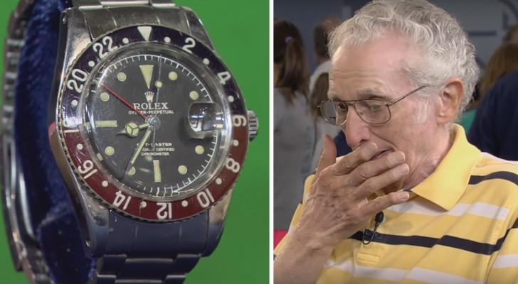 Porta il suo vecchio Rolex da un esperto per sapere il valore. Quando gli dice la somma, rimane senza parole!