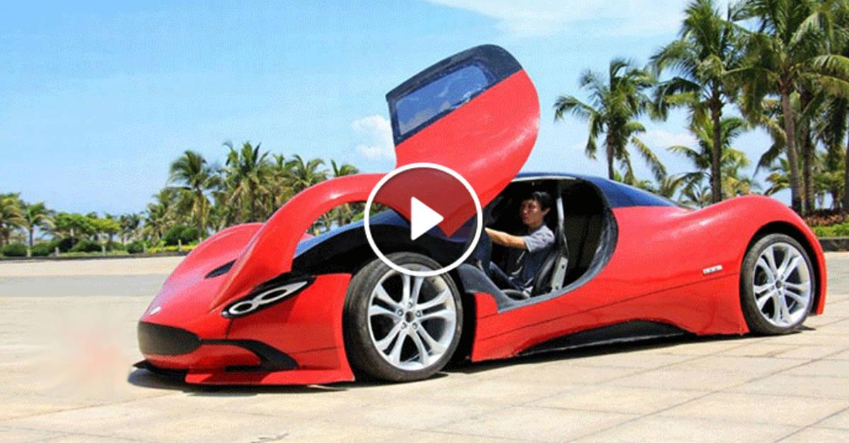 Con pochi risparmi questo studente cinese costruisce una supercar veramente fantastica! Guarda il video!
