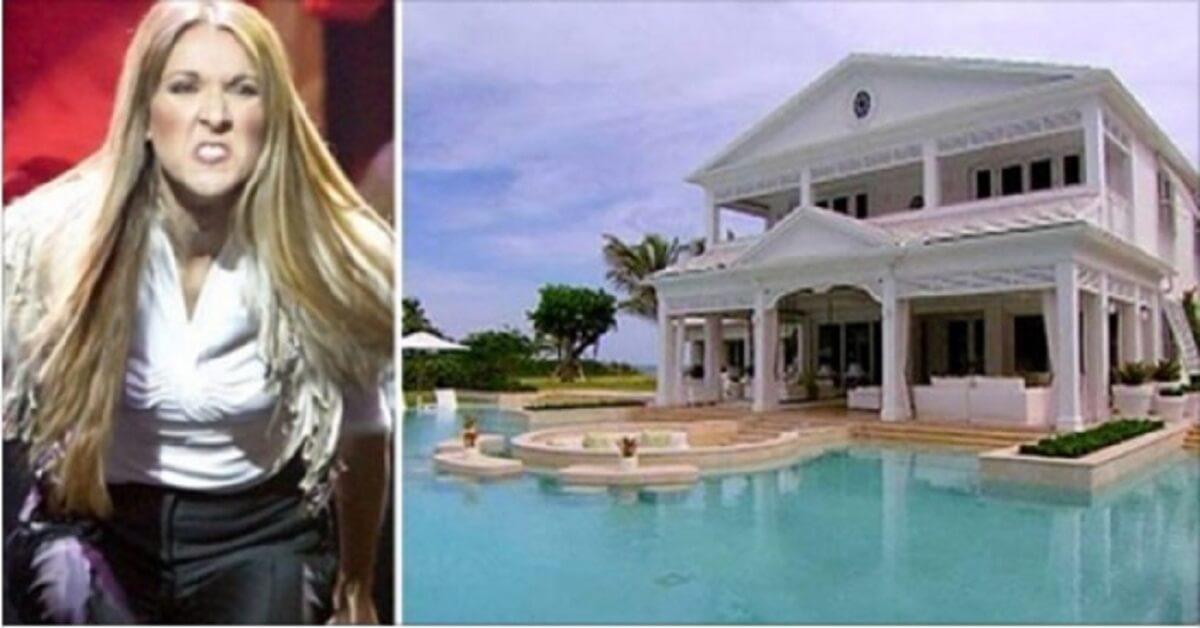 Céline Dion svende la sua casa ma nessuno vuole comprarla ... basta vederla per capire perché!