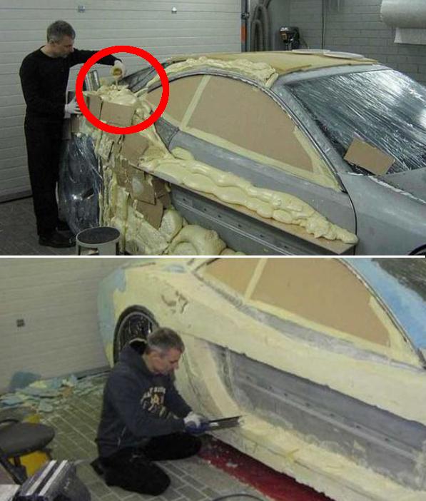 Questa auto doveva finire in una discarica, ma guardandola adesso non si direbbe proprio!!! Guarda l'incredibile trasformazione!!!