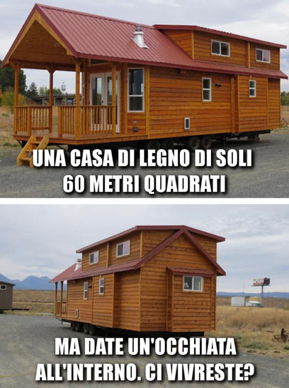 Una casa di legno da soli 60 metri quadrati. Ma basta un'occhiata all'interno per innamorarsi. A voi piacerebbe una casa così?