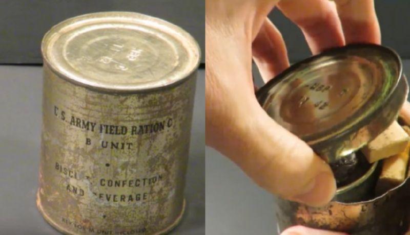 Trova una vecchia lattina risalente alla seconda guerra mondiale: all'interno è ancora tutto integro