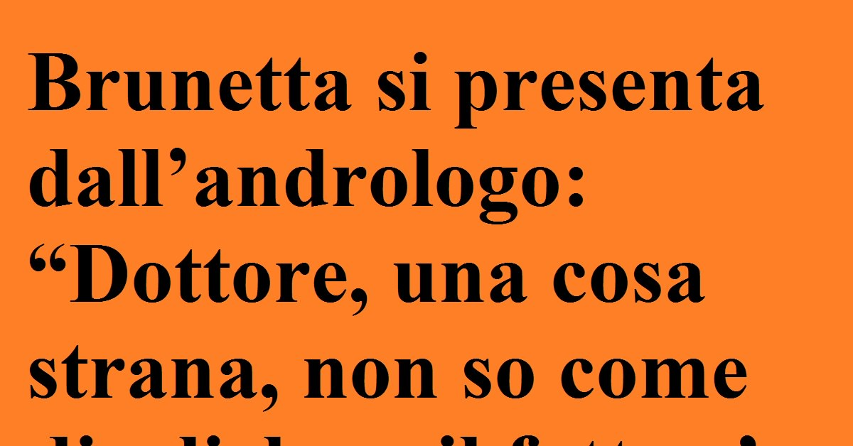 Brunetta va dall'andrologo... la divertentissima barzelletta sull'ex ministro!