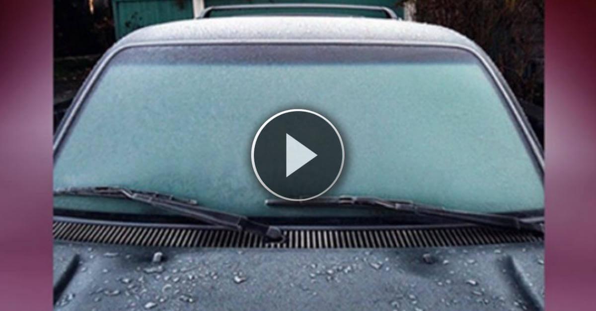 """La mattina i vetri della tua auto sono tutti """"congelati""""? Ecco la soluzione più efficiente e veloce che ci sia!"""