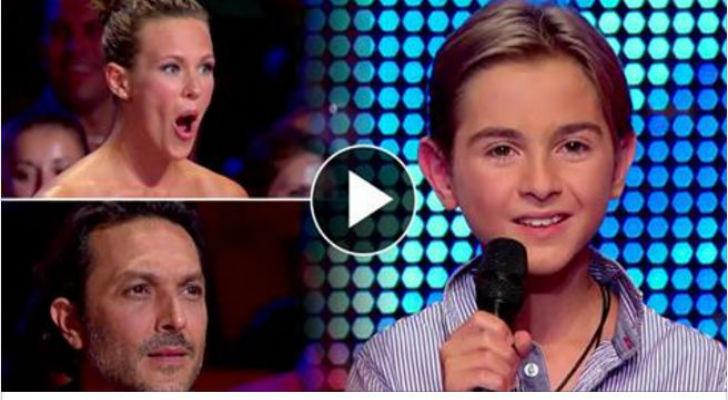 Incanta i giudici cantando una canzone di Celine Dion, il giovane talento ha solo 12 anni!!!