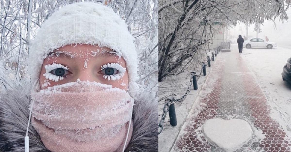 Il termometro si rompe a -62 ° C nel villaggio più freddo del pianeta e le immagini sono inverosimili